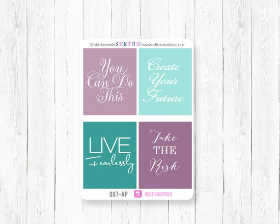 full box motivational planner stickers april ec colors etsy