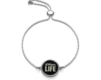 Mom Life Box Chain Bracelet