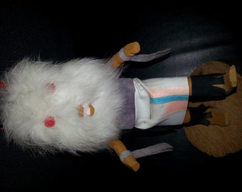 Signed Native American Kachina doll that is Named Wolf.