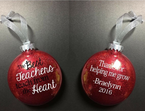 Teacher ornament gift for teacher christmas ornament | Etsy