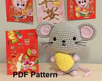 Crochet Pattern Year of the Rat Amigurumi, Crochet Pattern Year of the Mouse Amigurumi, Chinese New Year Rat and Mouse Crochet Pattern