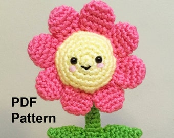 Crochet Pattern Potted Flower Amigurumi, Flower Crochet Amigurumi Tutorial, Flower Amigurumi DIY Pattern, Crochet Flower Amigurumi Pattern