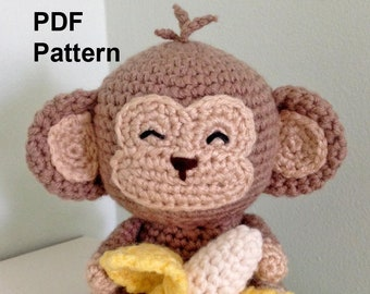 Naughty Monkey Kid Plush Toy Handmade Crochet Stuffed Animal | Etsy | 270x340