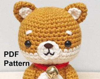 Crochet Pattern Dog Amigurumi, Shiba Crochet Pattern, Doggy Plushie Tutorial, Chinese New Year Dog Crochet Pattern, Shiba Crochet Tutorial