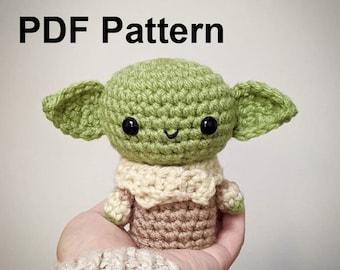 Crochet Pattern Baby Alien Amigurumi, Baby Alien Amigurumi Crochet Pattern Tutorial, Baby Alien Crochet Plushie Pattern Tutorial, Alien DIY