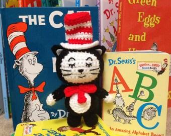 Crochet Pattern The Cat in the Hat Amigurumi, The Cat in the Hat Crochet Plushie Pattern, Dr. Seuss The Cat in the Hat Amigurumi Pattern