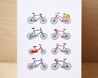 8# Retro Bicycle Card