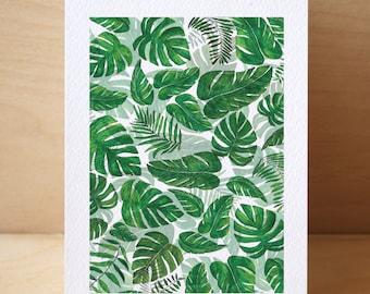 Leaf Collage Card