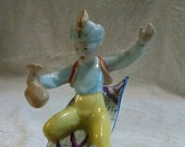 Aladdin Magic Carpet Fun Carpet Flying Vintage Figurine
