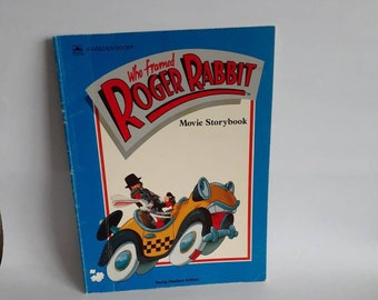 Who Framed Roger Rabbit Movie Storybook 80s Motion Picture Animated Character
