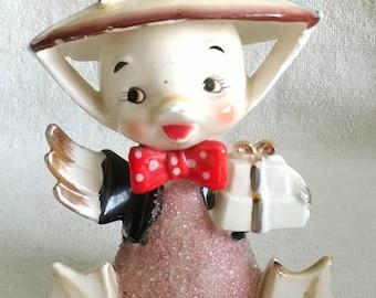 Midcentury Arnart Sugar Glaze Ceramic Duck Vintage Figurines
