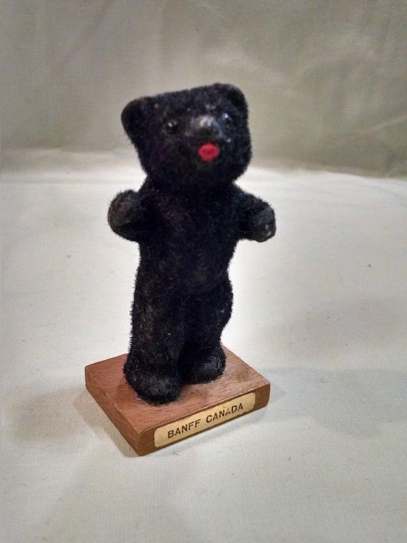 Ungewöhnliche kleine strömten schwarzer Bär Banff Kanada Souvenir