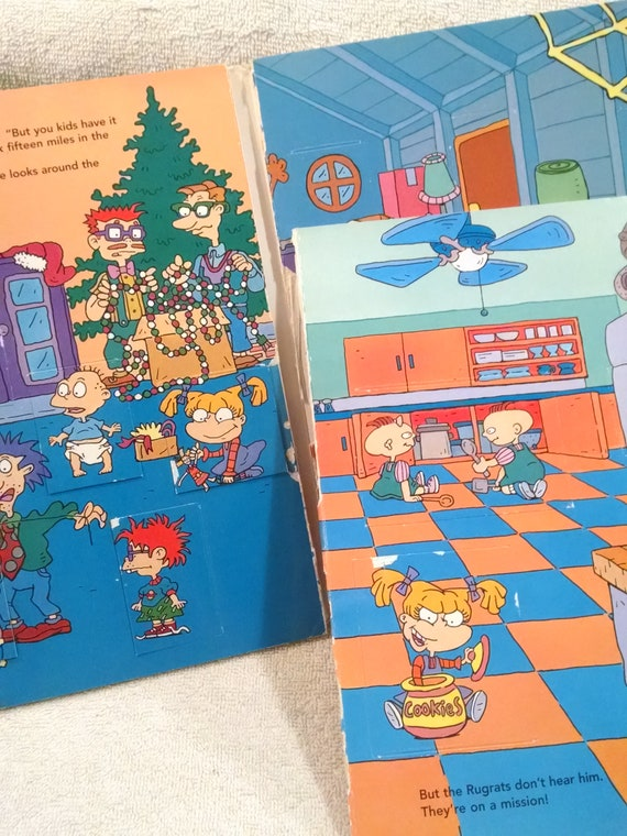Rugrats Christmas.Merry Christmas Rugrats A Lift The Flap Book Nickelodeon Christmas