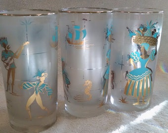 Frosted Vintage Calypso Glassware