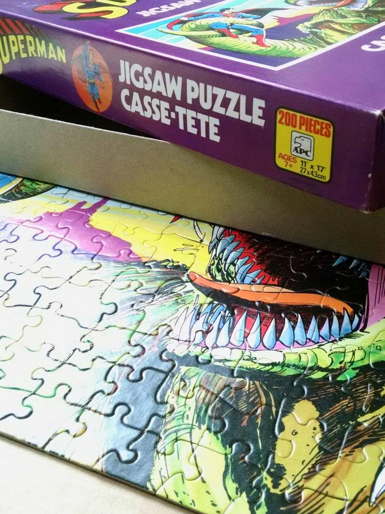 Puzzles games Entertaining Fun Sale Vintage DC Superman Puzzle