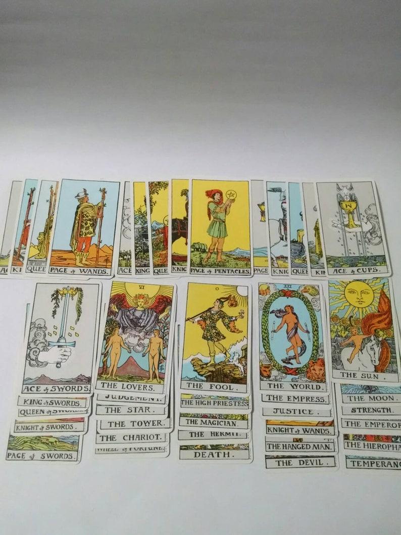 The Rider Tarot Deck Vintage Cards Yellow Box