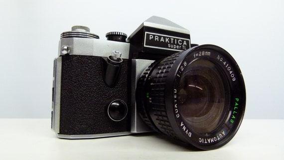 Vintage praktica super tl 35mm camera with hanimex 28mm lens etsy