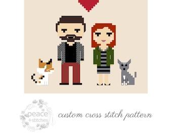 Custom Cross Stitch Pattern | Cross Stitch PDF Pattern Download | Personalized Pattern | Unique Gift