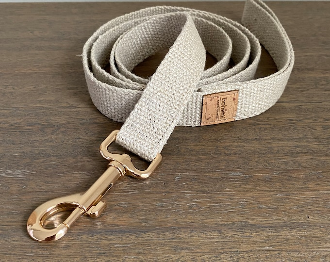 Organic European Hemp Clip Lead - Gold