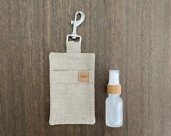 Hemp Poo Bag Mate + 15ml Glass Bamboo Bottle - Sand