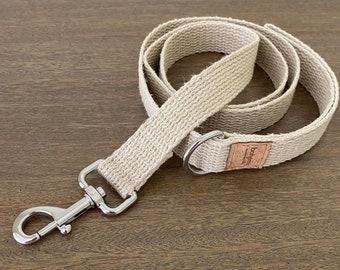 Organic Hemp Clip Lead with D Ring - Silver