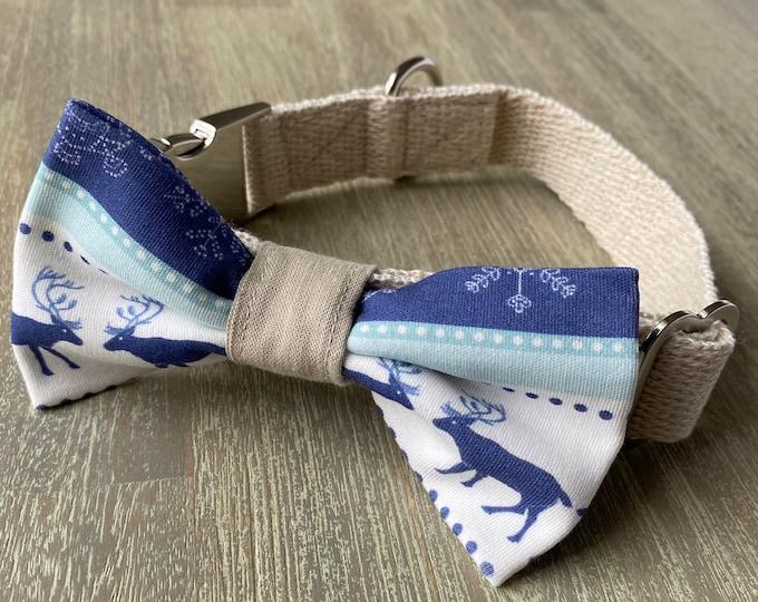 GOTS Organic Cotton Christmas Bow Tie & Collar Set - Winter Wonderland *LIMITED *