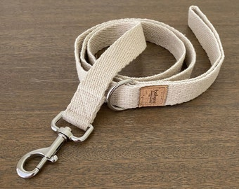 Super Soft Hemp Clip Lead with D Ring - Silver