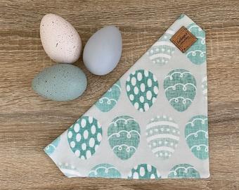 Aqua Easter Egg - GOTS Cotton Collar Bandana