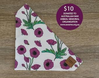 Purple Poppy - ANZAC Bandana