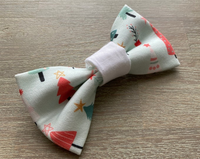GOTS Organic Cotton Christmas Bow Tie - Oh Christmas Tree *LIMITED *