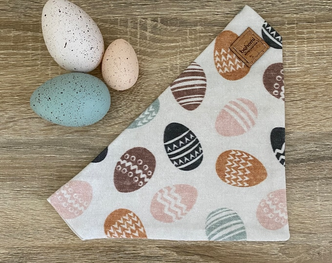 Featured listing image: Choccy Egg - GOTS Cotton Easter Collar Bandana