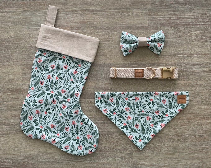 Deluxe Christmas Set - GOTS Organic Cotton - Mint Holly *LIMITED *