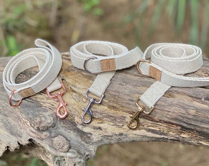 Featured listing image: Super Soft Hemp Clip Lead with D Ring