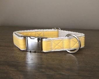 Hemp / GOTS Certified Organic Cotton Dog Collar - Yellow