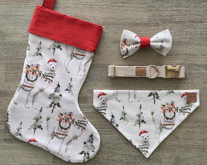 Deluxe Christmas Set - GOTS Organic Cotton - Festive Llama *LIMITED *