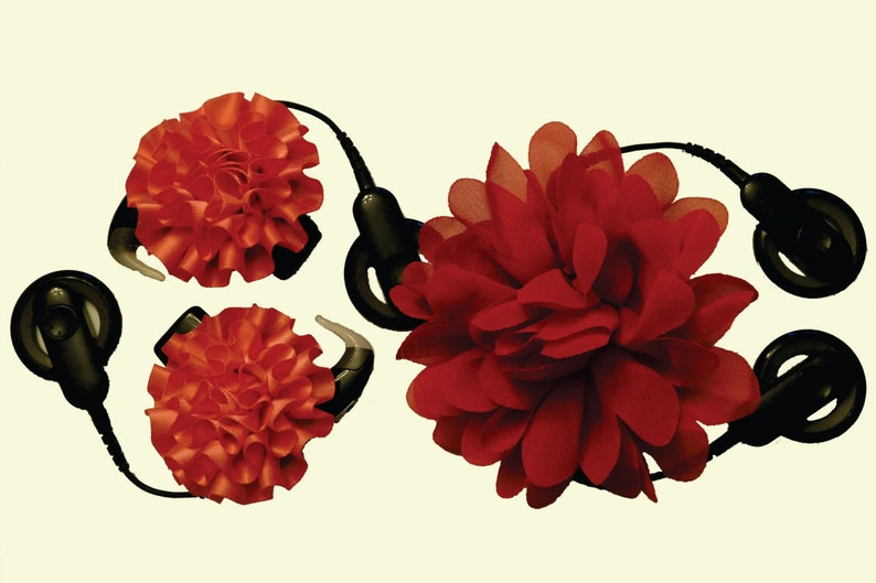 Peony Lace: Dual Cochlear Implant Processor Retainer /& Fastener 1