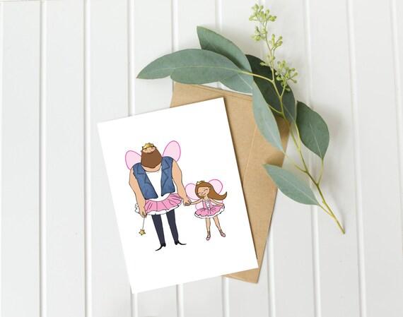Dad Birthday Card Father Daughter Card Daddy Birthday Card Etsy