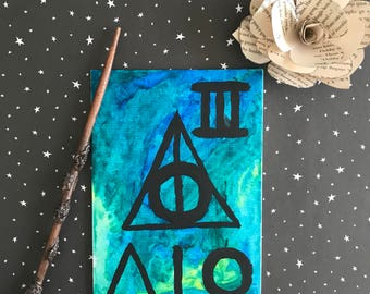 Deathly Hallow Watercolor Wall Art 4x6