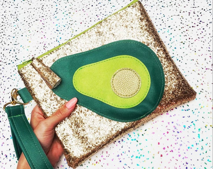 Avocado Wristlet clutch