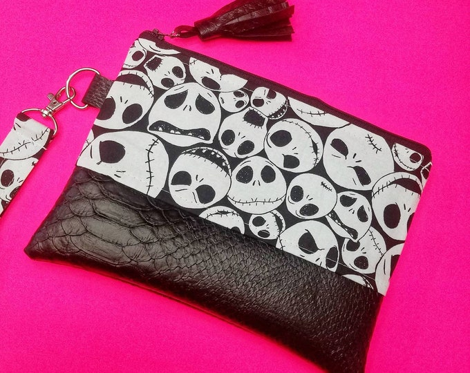 Jack Skellington wristlet bag