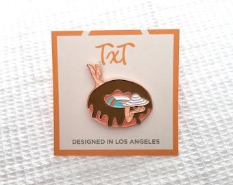 Donut Girl Pin