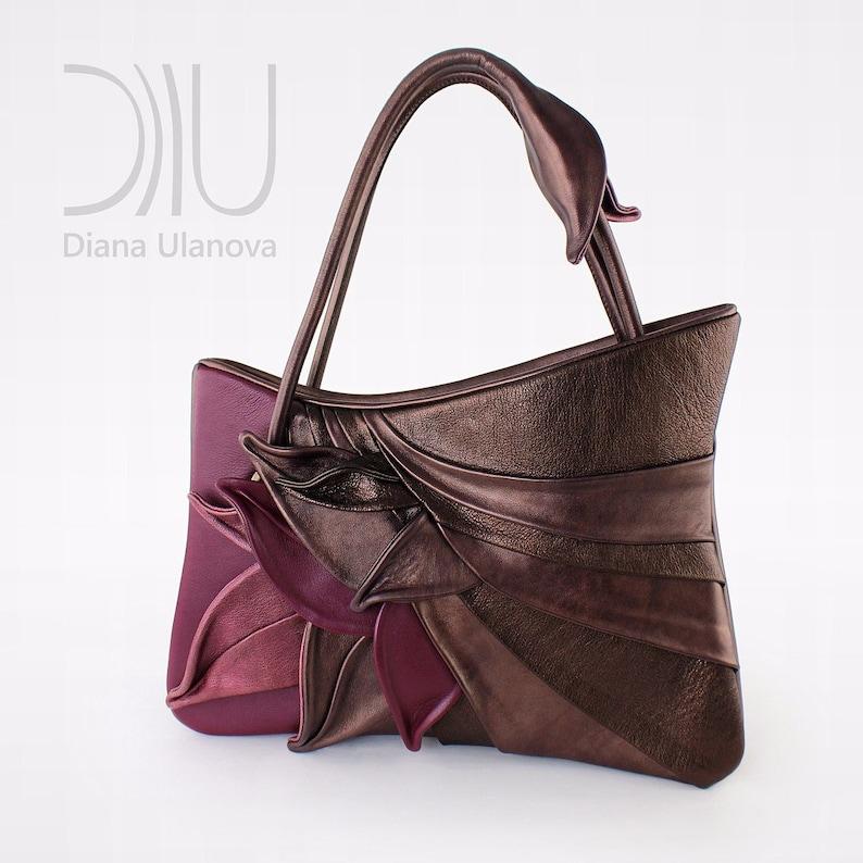 fef09edaa Leather TOTE BAG Designer Tote Bags Designer Shoulder Bag   Etsy