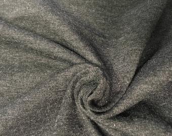 3a84b476076 Charcoal Gray Solid Cotton Spandex Fabric   Heather Grey/Dark Gray 4-Way  Stretch Apparel Fabric   58