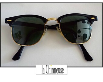 101a263011c Vintage RAY - BAN CLUBMASTER Bausch   Lomb   Vintage Ray - Ban Bausch and  Lomb U S A Clubmaster   Ray - Ban Clubmaster model vintage   Collectible.