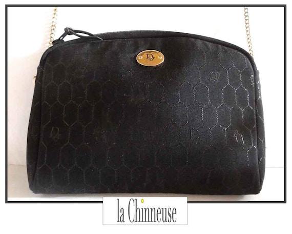 d1ada53a41a CHRISTIAN DIOR satin canvas bag   Bag Vintage Christian Dior     Etsy