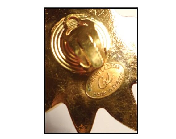 CHRISTIAN LACROIX EARRINGS / Earrings Clips Chris… - image 5