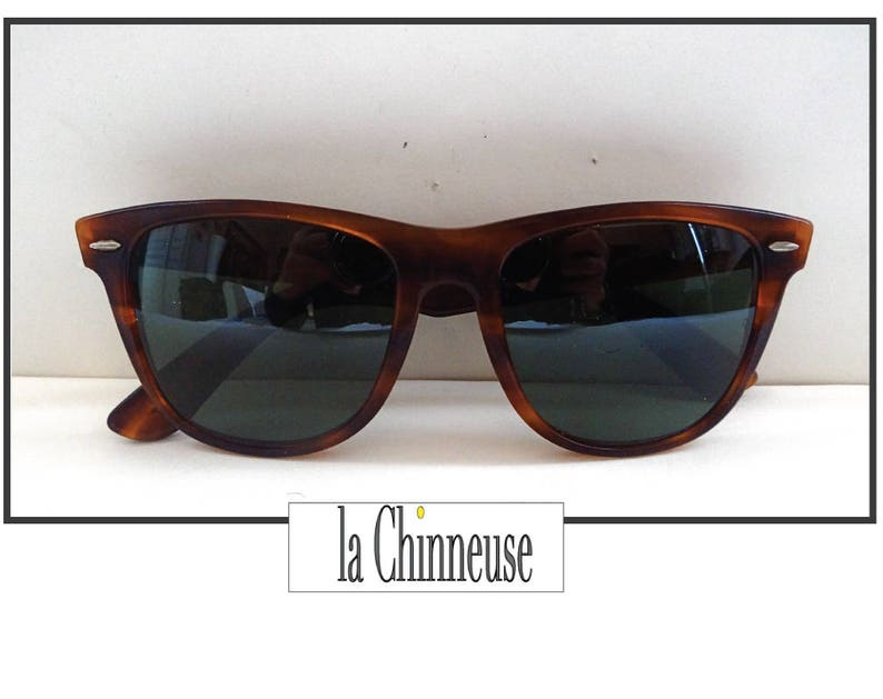 ce2e496d05 RAY BAN WAYFARER I I Vintage Bausch and Lomb Brown
