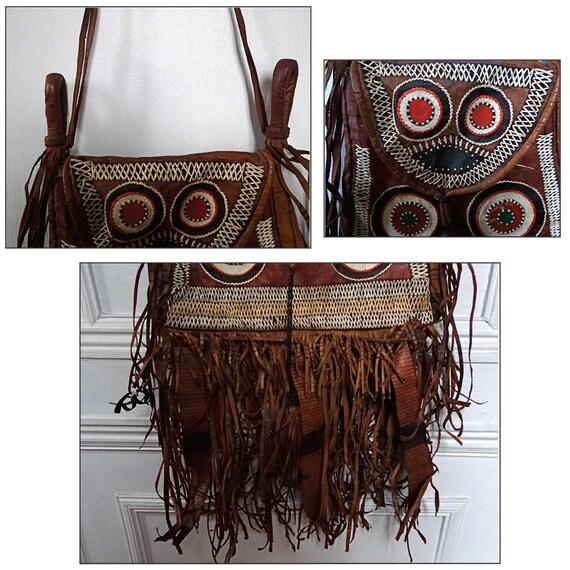 Franges Collection Berbère TouaregEn Sac Vintage Collectible De À Ethnique Pièce Cuir TK1cl3FJ