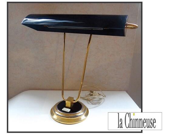VINTAGE lamp Art Deco1950 's desk lampmid century vintage lightingvintage desk lampcollectiblesgift for him.