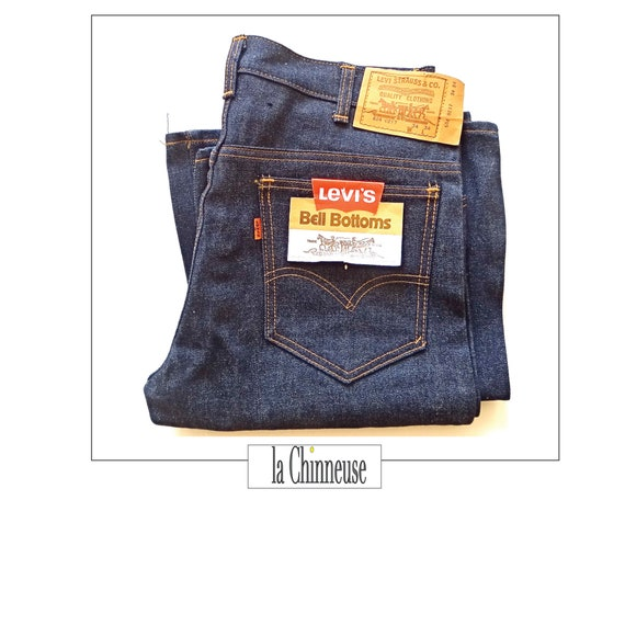 LEVI'S BELL BOTTOMS; 1970s; Jean Denim Nine with L